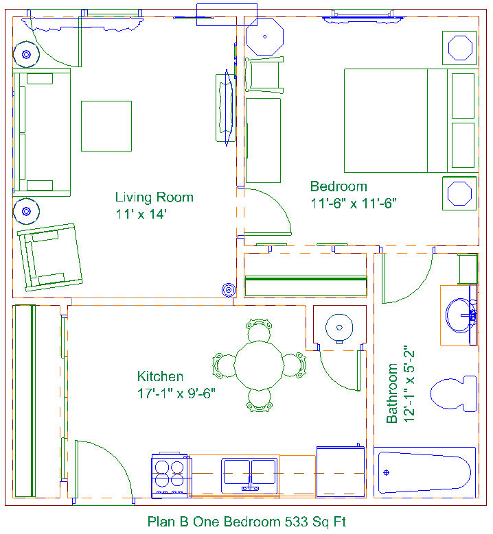 One Bedroomm Model At Copperstone Retirement Of Derby Kansas
